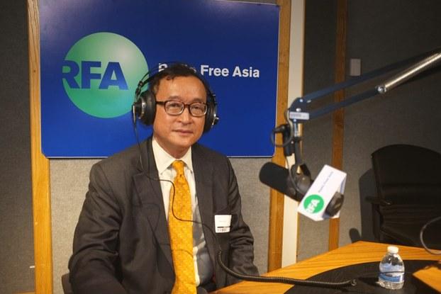 Sam Rainsy speaks with RFA in Washington, May 14, 2015.Sam Rainsy speaks with RFA in Washington, May 14, 2015.