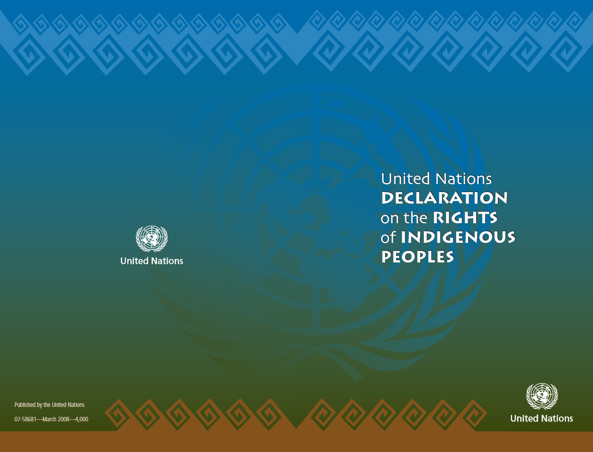 The United Nations Declaration on the Rights of Indigenous Peoples (UNDRIP)