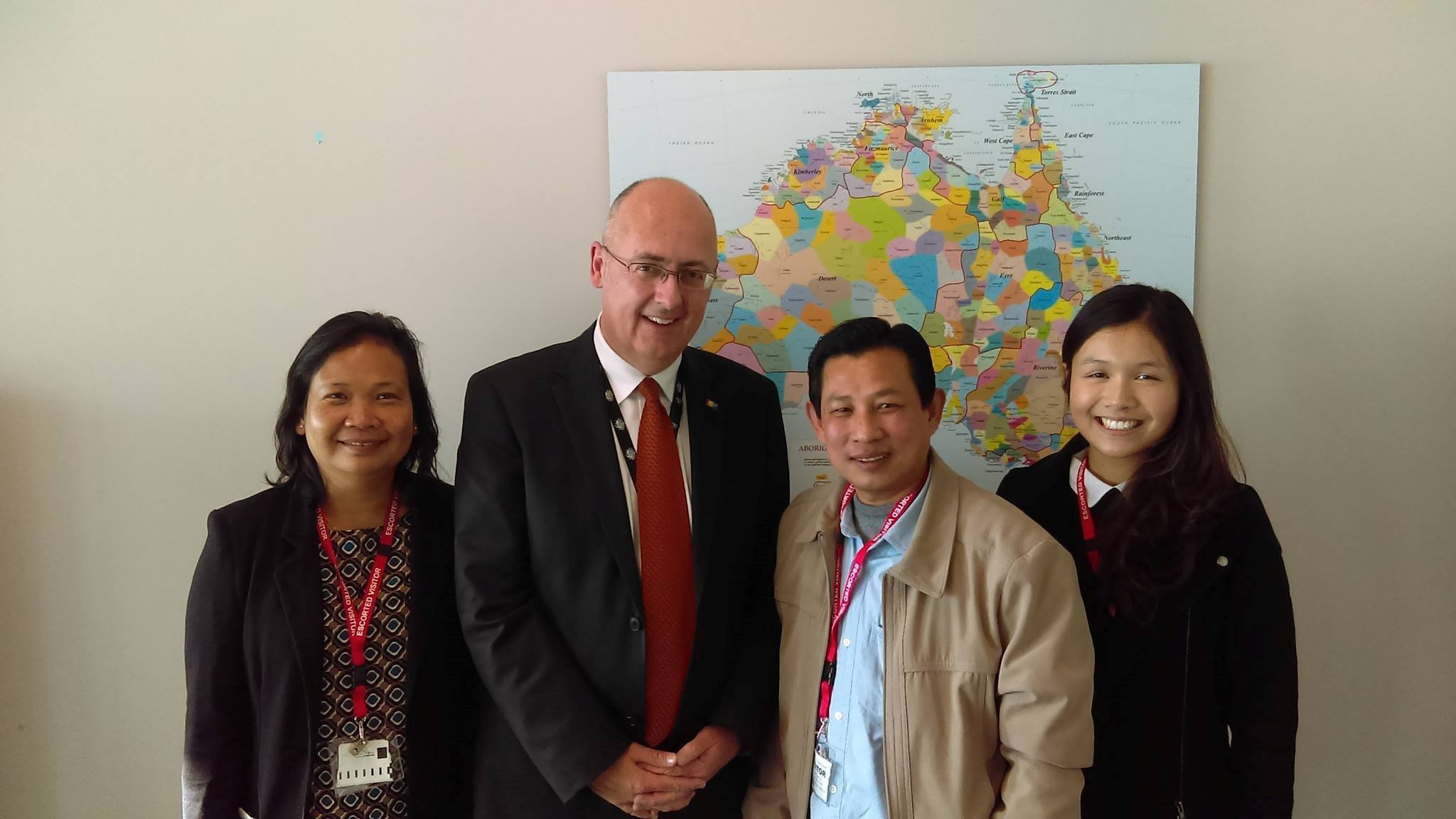 KKF Delegation with Dr. Lachlan Strahan at the NGO Debrief on Australia-Vietnam Human Rights Dialogue